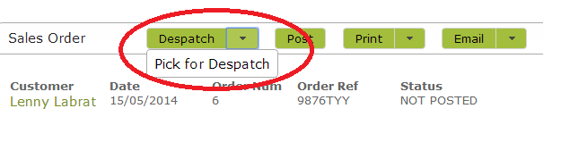 Sales-Order-PickForDespatch