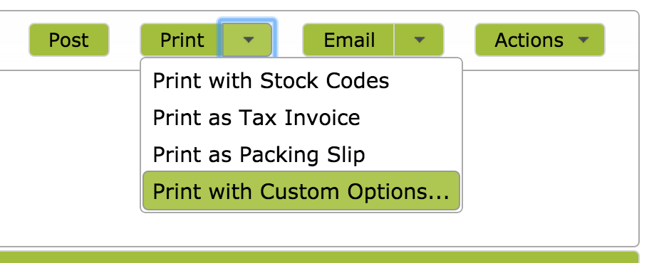 SalesInvoiceOptions
