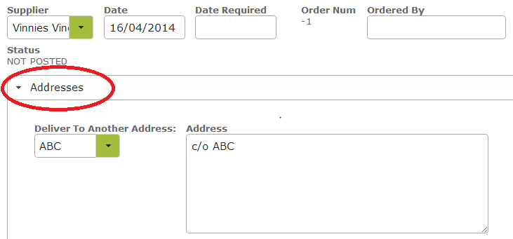 Purchase Order Addresses