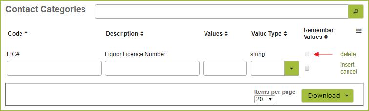 ContactCategoriesLIC