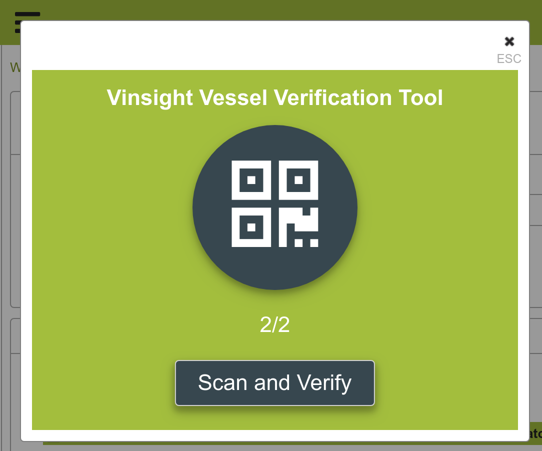 Barcode Verification vinsight documentation | winery operation vessels